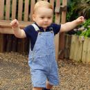 Prince George Walks, Wears Adorable Denim Overalls in New Official Picture to Mark First Birthday
