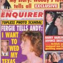 Francesca Gregorini - National Enquirer Magazine Cover [United States] (8 September 1992)