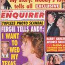Francesca Gregorini - National Enquirer Magazine Cover [United States] (8 September 1992)
