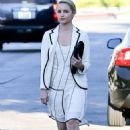 Dianna Agron: made the trek to Kate Somerville Skin Health in West Hollywood