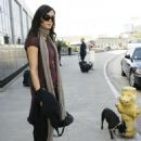 Famke Janssen Arrives At Los Angeles International Airport With Her Dog - Nov 2 2007