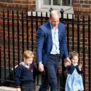 The Duke & Duchess Of Cambridge Depart The Lindo Wing With Their New Son - 421 x 600