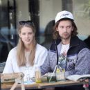 Abby Champion and Patrick Schwarzenegger – Spotted while out for lunch at Kreation in Brentwood - 454 x 371