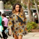 Kat Graham: showed up on Melrose in Los Angeles