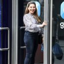 Kelly Brook – All smiles while arriving at the Global Radio Studios in London