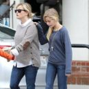 Reese Witherspoon: out for breakfast at the Axe Restaurant in Venice