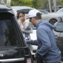 Pro skateboarder and entertainer Rob Dyrdek is spotted out with his wife Bryiana and son Kodah in Los Angeles, California on March 26, 2017 - 425 x 600