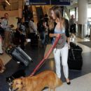 Hilary Swank seen at LAX