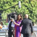Priyanka Chopra – Filming a short commercial by the Universal Studios in Universal City - 454 x 681