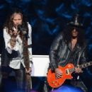 Slash & Steven Tyler perform at SiriusXM's