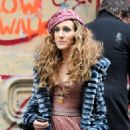 "Sarah Jessica Parker Shooting A Print Ad For ""Sex And The City: The Movie"" In New York City, January 24 2008"