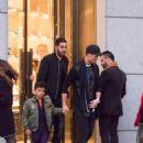 HANDBAGS AND MAD-RAGS Cristiano Ronaldo goes handbag shopping for girlfriend Georgina Rodriguez as Real Madrid star's son Cristiano Jr wears custom jacket - 454 x 681