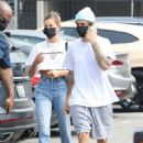 Hailey Bieber and Justin Bieber – Out in Santa Monica