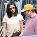 Olivia Munn on set of 'The Predator' in Vancouver - 454 x 303