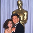 Jennifer Grey and Patrick Swayze At The 60th Annual Academy Awards - Arrivals (1988) - 454 x 670