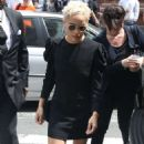 Zoe Kravitz in Mini Dress at AOL Build in New York - 454 x 557