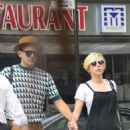 Scarlett Johansson Out With Her Fiance In New York City