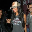 Nicole Scherzinger out at Pink Taco restaurant in Hollywood (July 24)