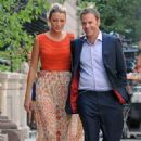 "Blake Lively and Barry Watson filming ""Gossip Girl"" on Fifth Avenue in New York City (July 17)"