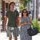Kourtney Kardashian and Scott Disick at Nate 'n Al's Deli in Beverly Hills, CA (July 2)