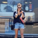 Elizabeth Olsen in Cut-offs out in Studio City