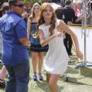 Bella Thorne  attended an interview at the Grove in Los Angeles, California on July 10, 2012 for the Extra - 432 x 594