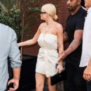 Kylie Jenner in White Mini Dress – Out in NYC