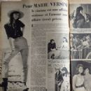 Marie Versini - Festival Magazine Pictorial [France] (1 November 1960) - 454 x 461