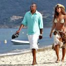 The couple took a relaxed stroll along the beach in Saint Tropez. JUNE 16, 2005