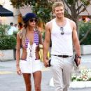 Kellan Lutz and Sharni Vinson taking a stroll while on holiday in Saint Tropez, France (July 28)
