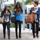 Selena Gomez with girlfriends in Beverly Hills, Ca January 24th,2013 - 454 x 339