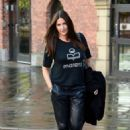 Lisa Snowdon – Leaving Hits Radio Station in Manchester - 454 x 659