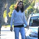 Mila Kunis and Ashton Kutcher – Out for a walk in Los Angeles - 454 x 681