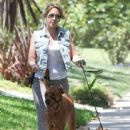 Haylie Duff: out walking her two dogs in Toluca Lake - 442 x 594