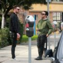 Pete Wentz is spotted out for lunch in Studio City, California with a friend on January 9, 2017 - 454 x 326