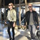 Jason Statham and Rosie Huntington-Whiteley Catch a Flight at LAX   September 25, 2015