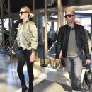 Jason Statham and Rosie Huntington-Whiteley Catch a Flight at LAX   September 25, 2015