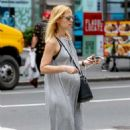 Claire Danes in Long Dress out in New York - 454 x 681