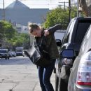 Kristen Bell gets a parking ticket while getting a facial at Kate Sommerville in West Hollywood - February 8, 2011