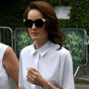 Michelle Dockery with her mum at Wimbledon 2018 in London - 454 x 681