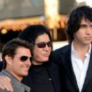 """Actor Tom Cruise, musician Gene Simmons and Nick Simmons arrive at the premiere of Warner Bros. Pictures' """"Rock of Ages"""" at Grauman's Chinese Theatre on June 8, 2012 in Hollywood, California"""
