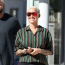 Amber Rose in Black Leggings – Out in Miami