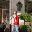 Phoebe Tonkin – Leaving her hotel in Paris - 454 x 681