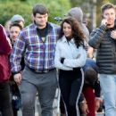 Michelle Keegan – Filming 'Brassic' TV Show in Lancashire - 454 x 633