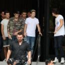 One Direction Leave Los Angeles Hotel