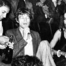 Mick Jagger and Jerry Hall being served by Steve Rubel at Studio 54
