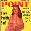 June Blair - Male Point Magazine Cover [United States] (February 1957)