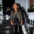 Elizabeth Hurley – Arrives at Annabel's in Mayfair - 454 x 670