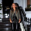 Elizabeth Hurley – Arrives at Annabel's in Mayfair - 454 x 670