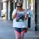 Busy Philipps in Shorts – Leaving her yoga session in Los Angeles - 454 x 681